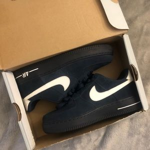 Navy Blue Air Force 1's
